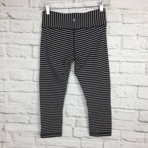 Lululemon Wunder Under Crop Parallel Stripe Black